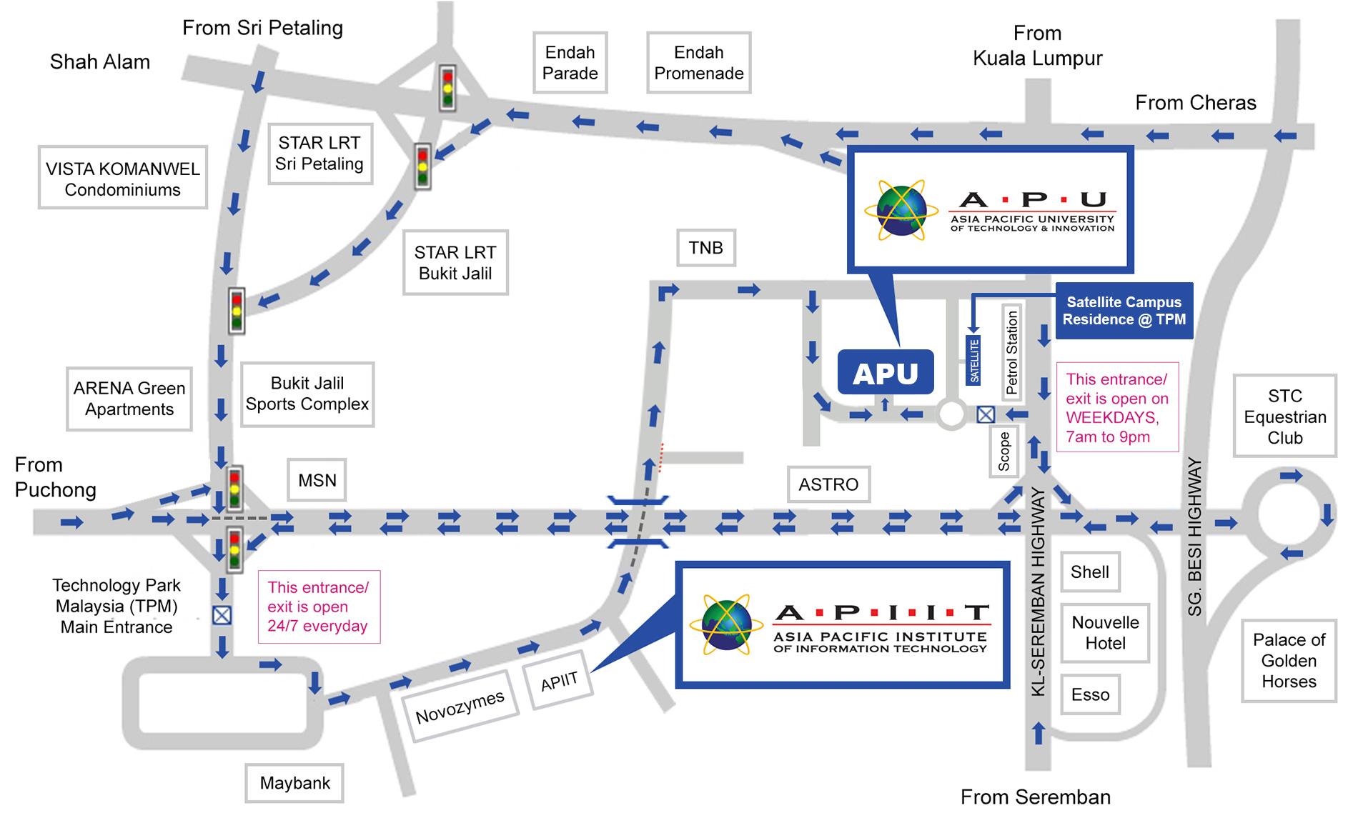APU Location Map